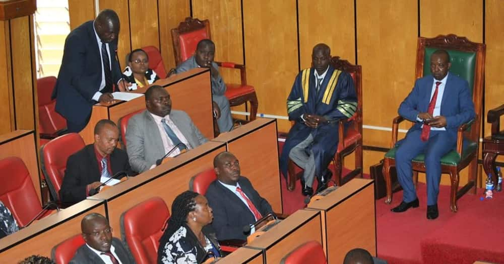 Police officers lob teargas to disperse Kisii MCAs as assembly Speaker impeachment turns chaotic