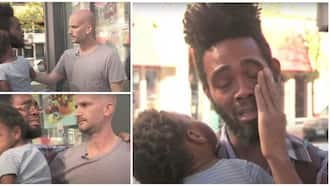 Emotional Moment as Man Rents Homeless Single Father Hotel Room for A Week, Gifts Him KSh 110k