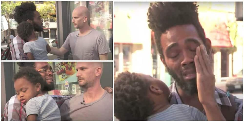 Touching video as man offers N411k to single father, pays for a hotel room for him.