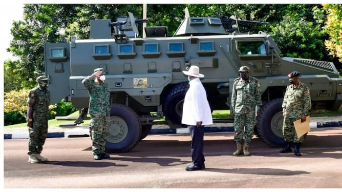 Yoweri Museveni Commissions Heavy Infantry Fighting Vehicles Manufactured in Uganda