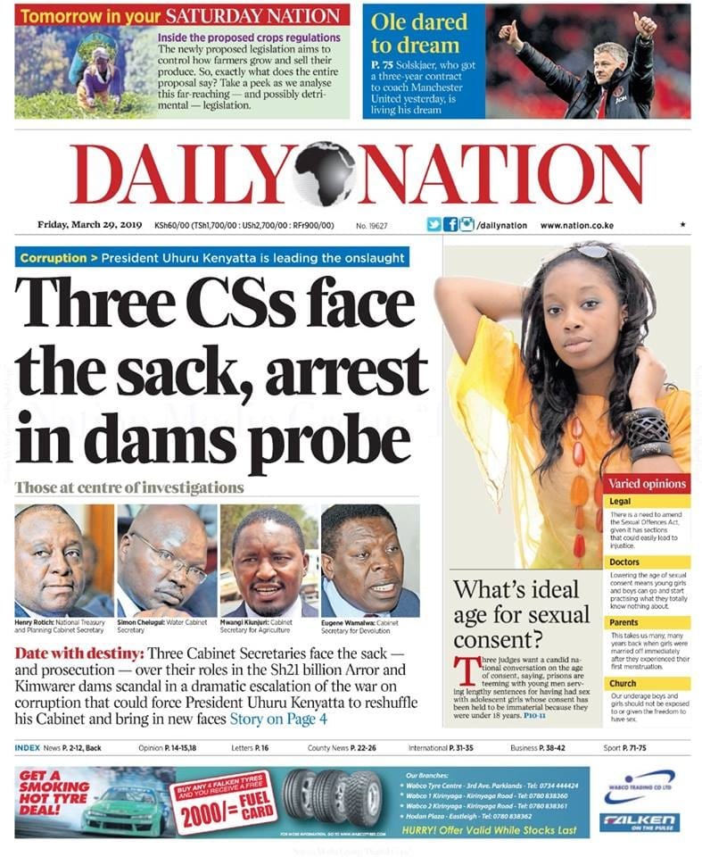 Kenyan newspapers review for March 29: KNH detains patients, bodies over KSh 6 billion debt