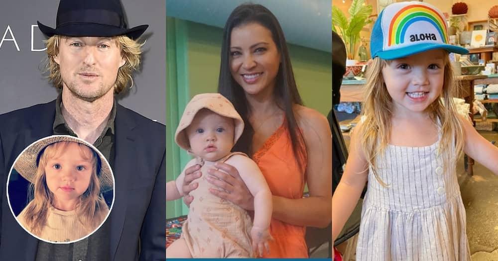 Ameican actor Owen Wilson, his ex-lover Varunie Vongsvirates and their daughter Lyla.