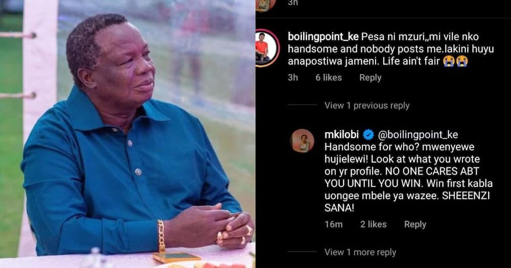 COTU boss Francis Atwoli is Kilobi's lover.