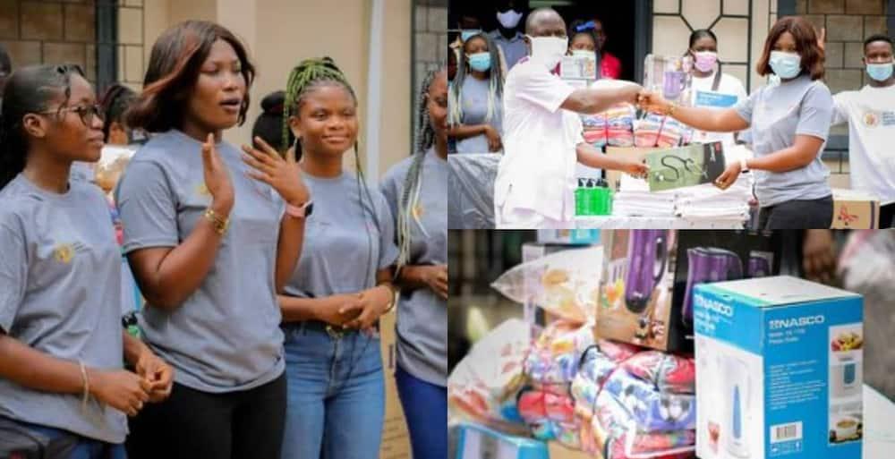 Nana Ama Afoa donated the equipment to Ankaful Psychiatric Hospital.