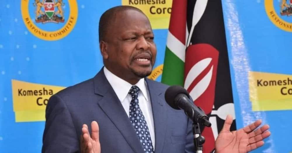 Health Cabinet Secretary Mutahi Kagwe. Photo: MoH.