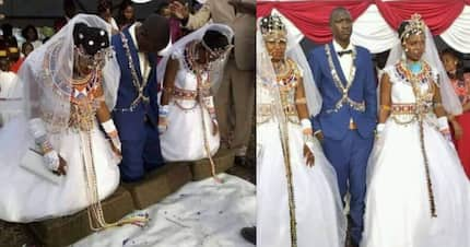 Kajiado man leaves Kenyans in awe after marrying two wives in one wedding