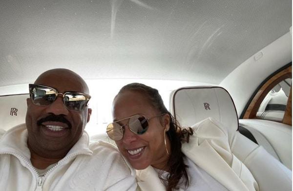 Steve Harvey's wife wishes him happy 64th birthday with romantic photo post