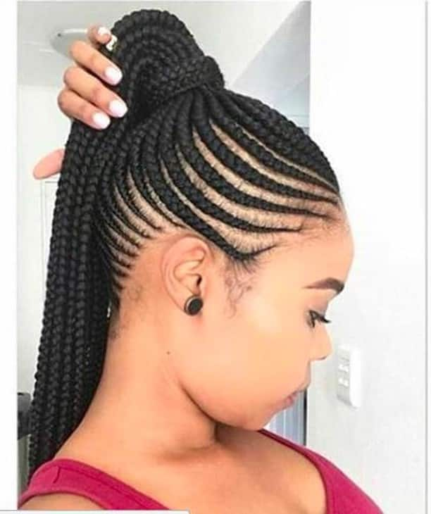 25 Latest Ghana Weaving Shuku Hairstyles In 2020 Tuko Co Ke