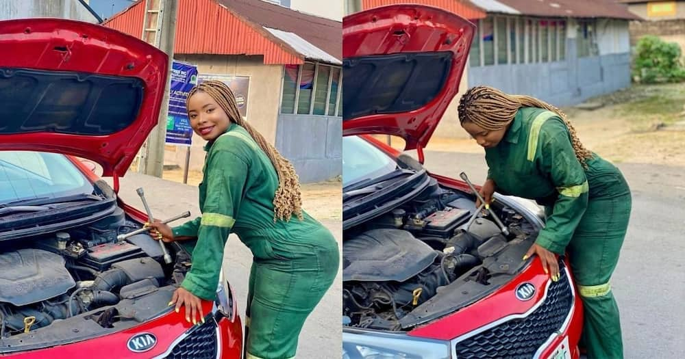 Fail: Lady raises eyebrows with questionable mechanic pics Export