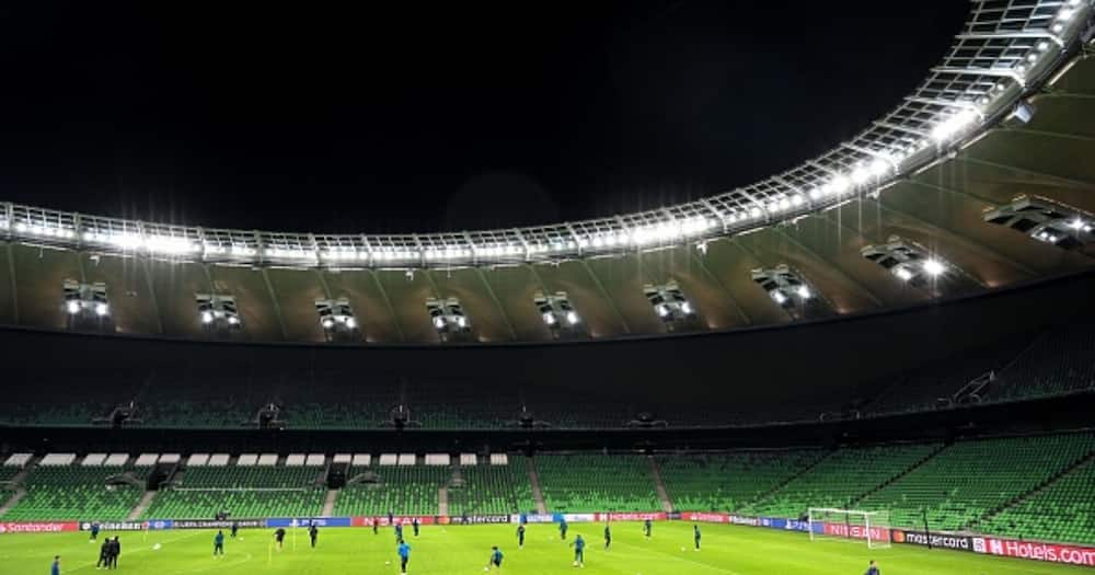 General view of the Sevilla's players during a training session at the Krasnodar stadium in Krasnodar on November 23, 2020, on the eve of the UEFA Champions League Group E football match between Krasnodar and Sevilla.(KUDRYAVTSEV/AFP via Getty Images)