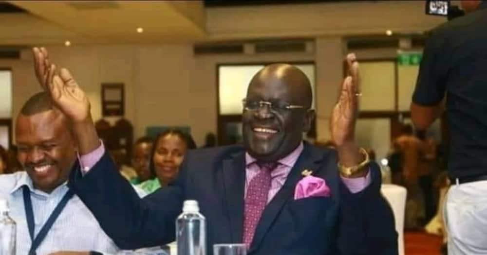 Hapendi ujinga: Waziri Magoha akataa kujiunga na Rais Uhuru kwenye densi