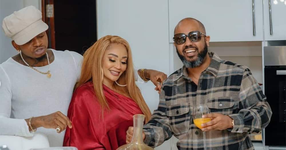 Zari Hassan Shyly Rests in Diamond's Arms During Fun Kitchen Hangout
