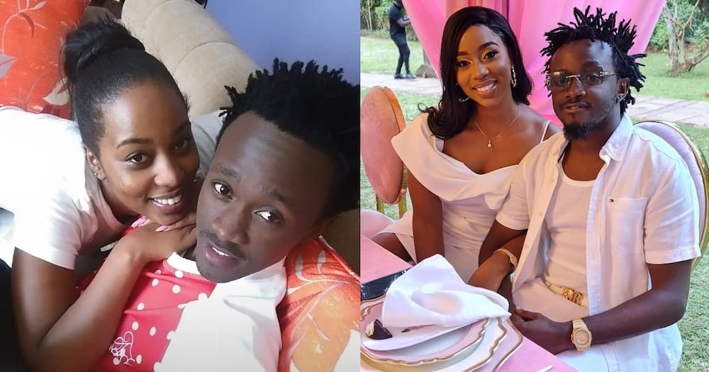 Diana Marua shares a Tbt photo of herself and Bahati in 2015.