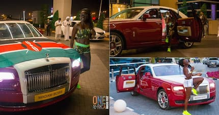Singer Akothe shows up at One Africa Festival in brand new Rolls Royce