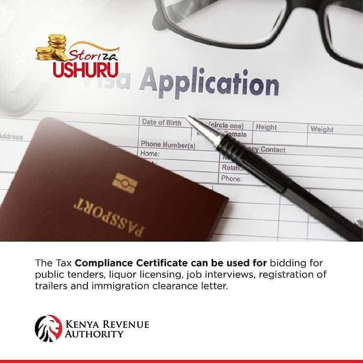 KRA clearance certificate cost, application form, and procedure