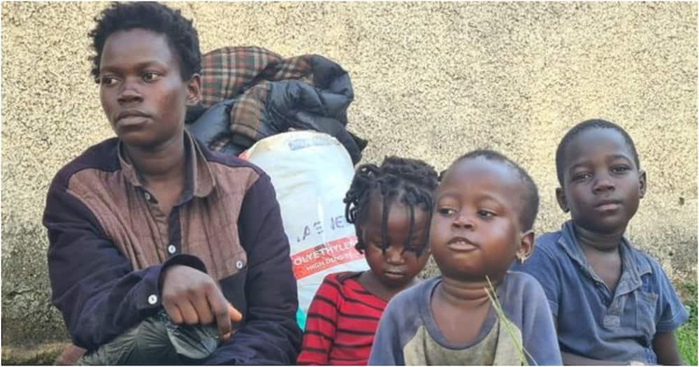 Mama Mkenya na wanawe 3 waishi mitaani Uganda baada ya kutorokwa na mumewe