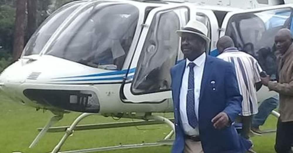 2022: Raila aagiza helikopta nne kupambana na Ruto kwenye mbio za Ikulu