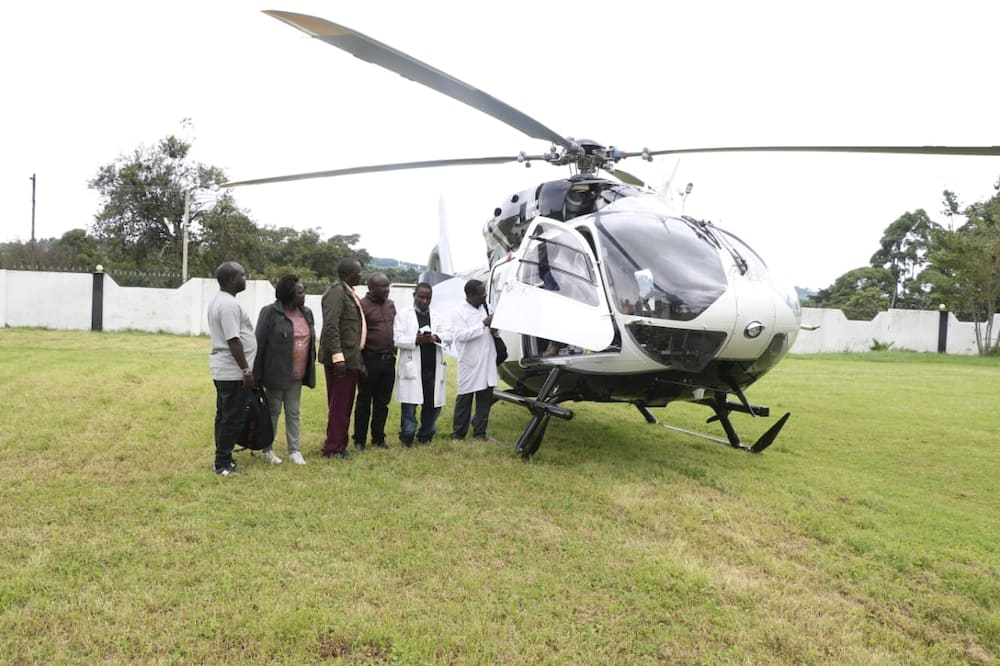William Ruto donates his chopper to distribute aid items in West Pokot