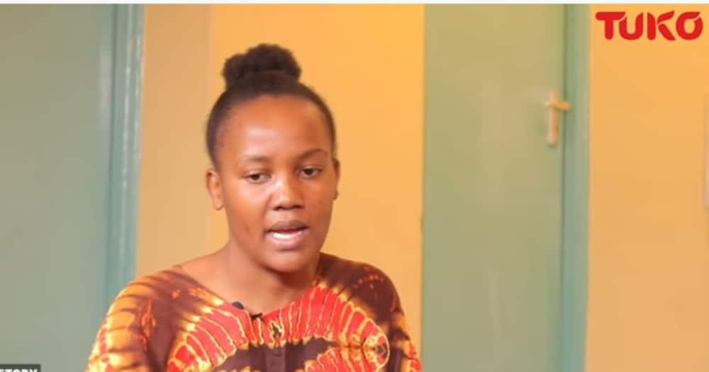 Faith Murunga found her husband married someone else when she came back from Saudi Arabia. Photo: TUKO.co.ke.