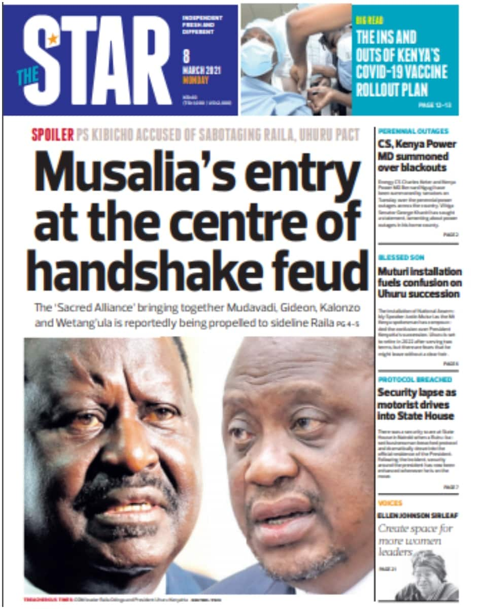The Star newspaper for March 8. Photo: UGC