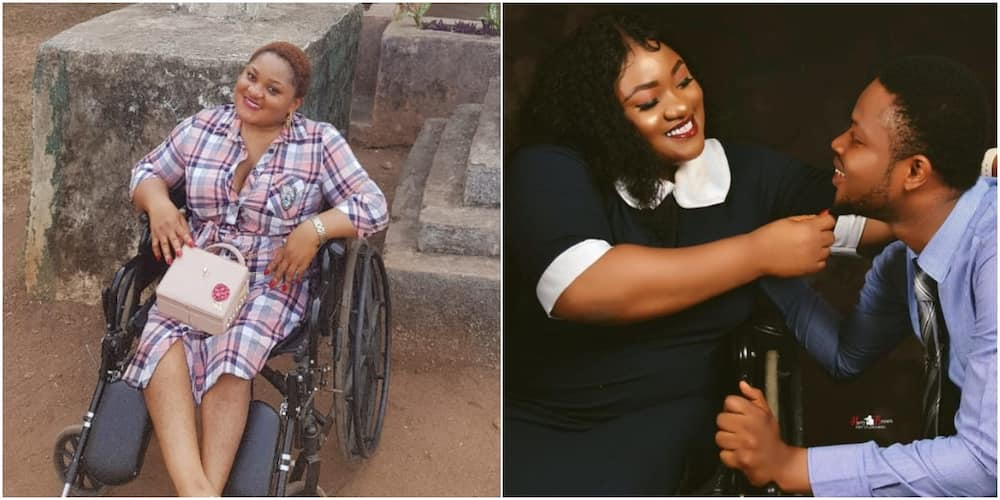 I Got Me the Finest, Tallest, Kindest Man: Physically Challenged Lady Declares as She Shares Adorable Photo