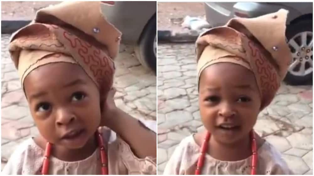 Baby represents her culture well, sings Yoruba song with sweet voice in viral video