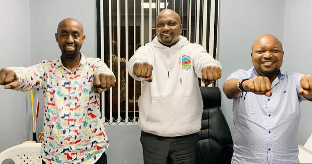 Kuria said his party had resolved to withdraw from the race after holding extensive discussions with Ruto. Photo: Moses Kuria.