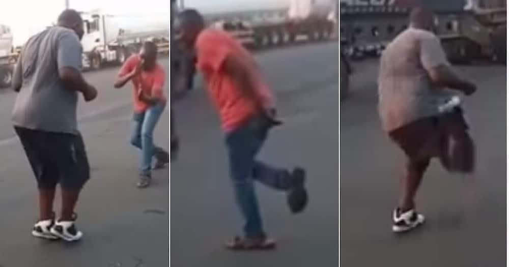 Video of two drive dancing on road. Photo:@SALongDistaceTruckers/Facebook.