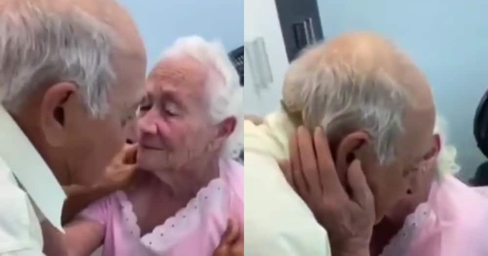 She got emotional after seeing him. Photo: @goodnewsmovement.