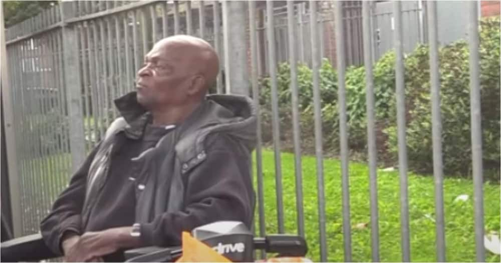 80-year-old Ghanaian man living in the UK was originally from Ghana. Photo: SVTV Africa.