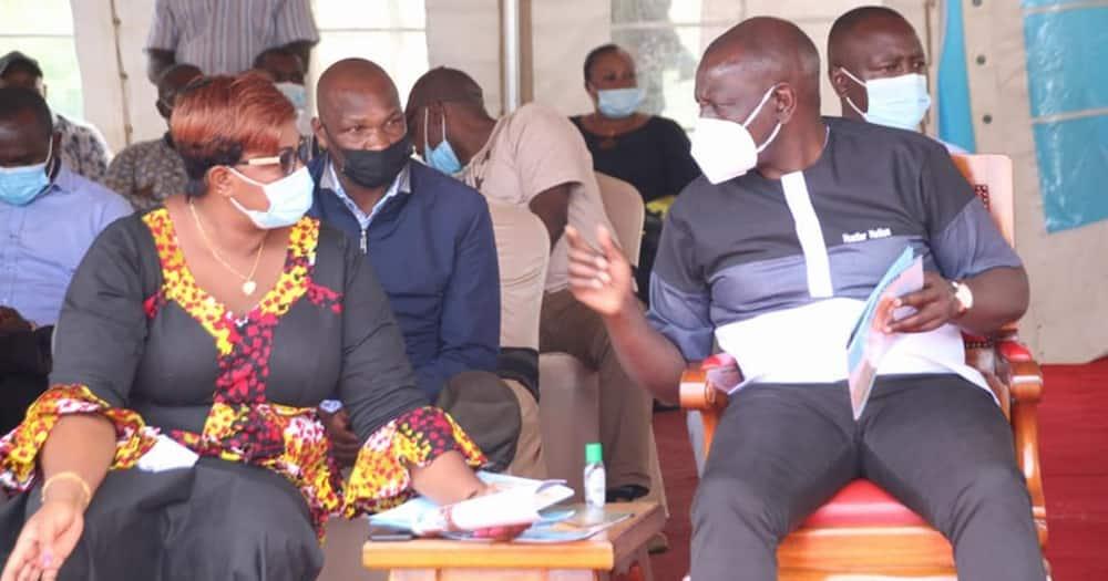 Deputy President William Ruto (r) and Malindi MP Aisha Jumwa. Photo: Aisha Jumwa.