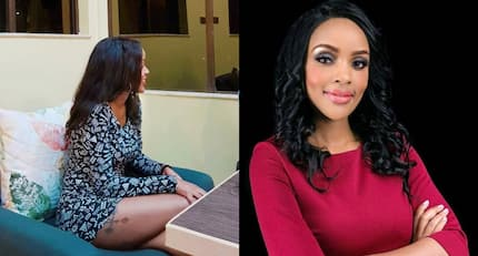 Sultry TV girl Joey Muthengi flashes rarely seen thigh tattoo and it is a lovely sight