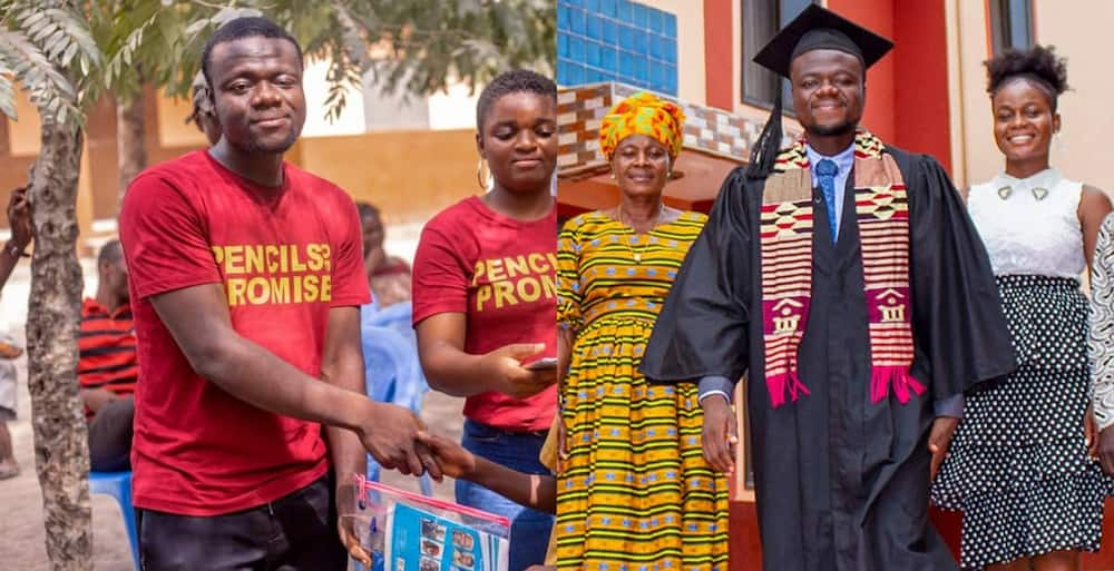 Foster Akpakli: Ghana boy who used to sell Second-hand Clothes at Kantamanto now Master's Student in the USA