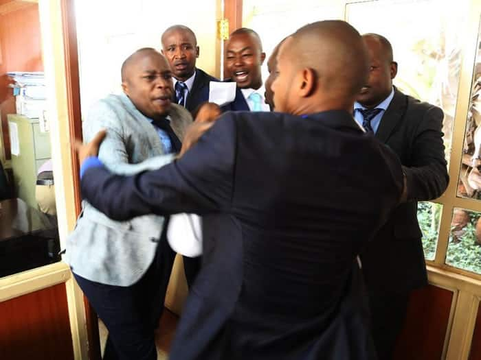 I did not slap Jaguar, it is his cheeks that moved towards my hands - Babu Owino