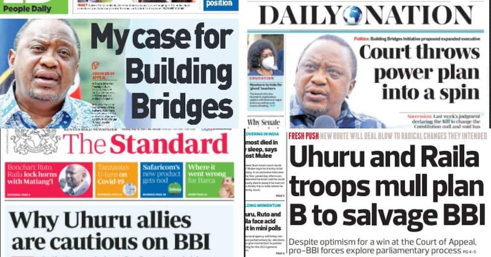 Magazeti Jumanne, Mei 18: Uhuru Asalia 'Bubu' Kuhusu Uamuzi Dhidi ya BBI