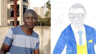 "Stivo simple boy amazed by his portrait from random artist: ""Kazi safi"""