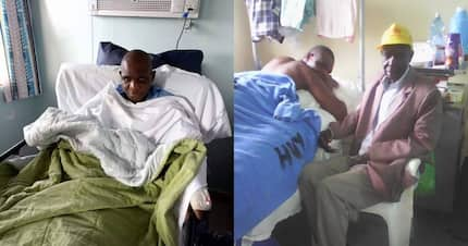 Father of 2 on KNH death bed appeals for help to offset KSh 4 million bill