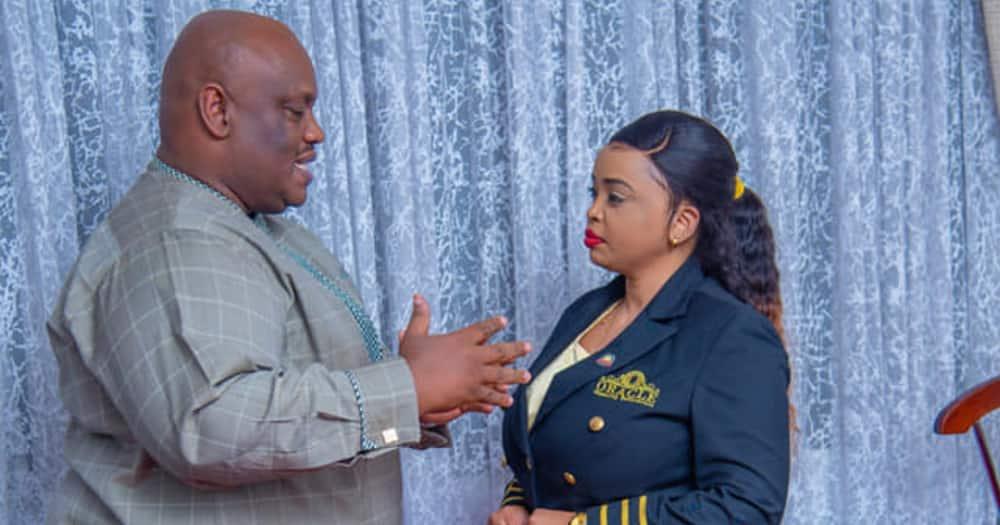 Franklin Mugisha (l) with Lucy Natasha. Photo: Lucy Natasha.