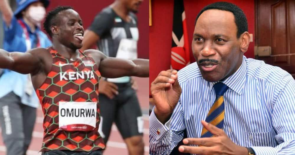 Ezekiel Mutua wishes Ferdinand Omanyala the best.