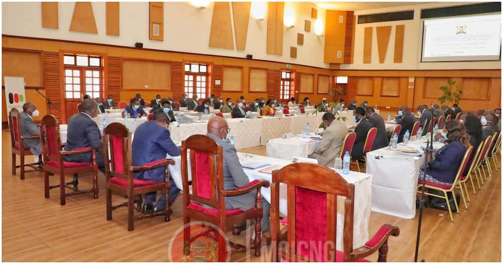 County governors during the meeting. Photo: Ministry of Interior and Coordination of National Government.