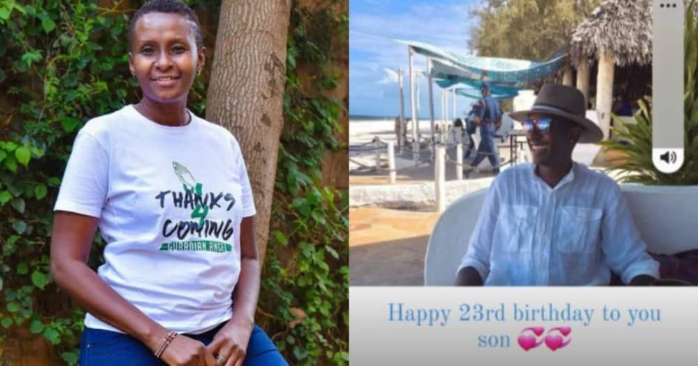 Guardian Angel's fiancee Esther Musila celebrates second born child's 24th birthday