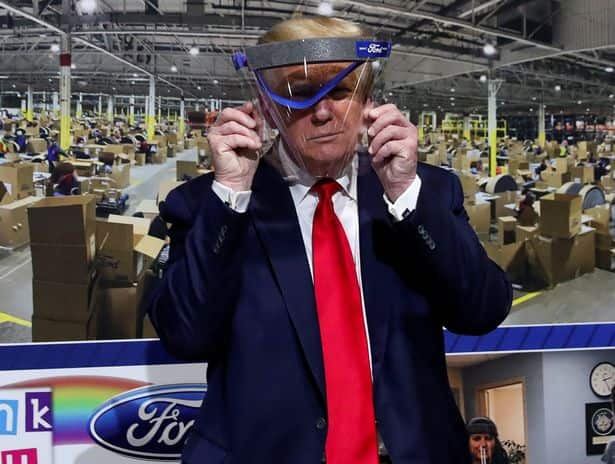 Donald Trump finally spotted wearing mask in public
