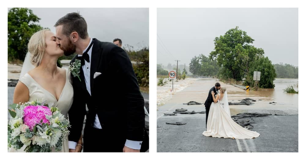 Bride Stranded by Floods on Wedding Day Airlifted by Helicopter to Church