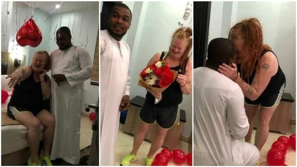 Nigerian man proposes to a white woman