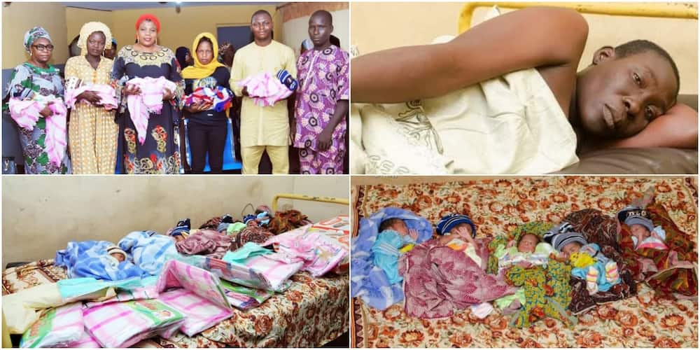 Farmer's wife delivers quintuplets in Ogbomoso, now a mother of ten, after previously having five children