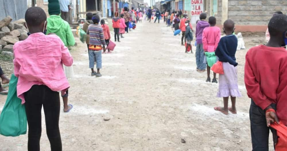 Pastor feeding over 1,000 children in Kayole receives donations from well-wishers