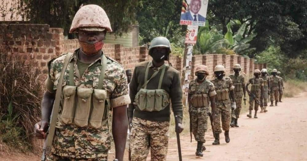 Heavily Armed Police Officers Man Bobi Wine's Homestead Ahead of Museveni's Swearing-in