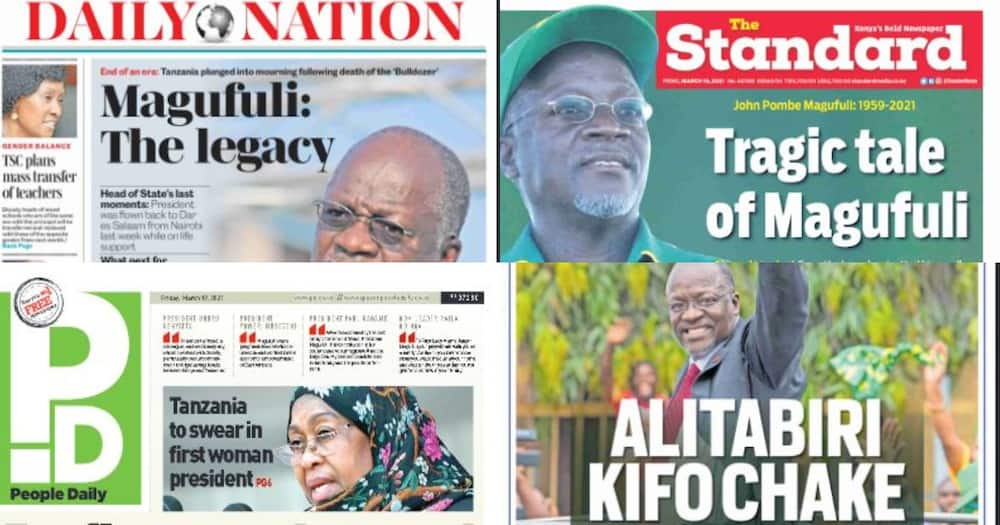 Kenyan Newspapers Review for March 19: Last Moments of John Pombe Magufuli