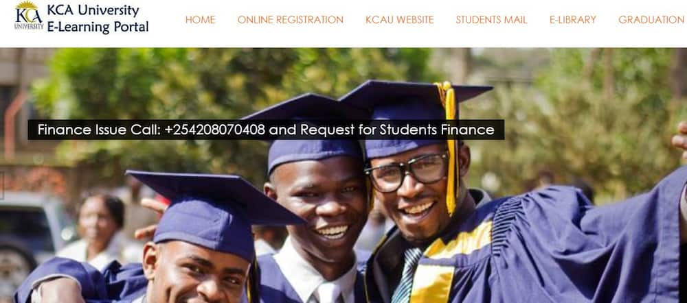 KCA student portal: account registration, e-learning and exam timetables