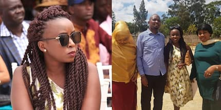 TV girl Jacque Maribe attends glamorous wedding in company of Moses Kuria